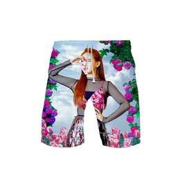 ZWEI Idol Korea 3D print Strand Shorts Mode Kpop Shorts Basic Street Sommer Casual Moletom Mann Hose Hipster von Fabrikanten
