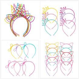 Diy Haarnadel Zubehör Großhandel Kunststoff Kinder Friseur Kopfschmuck Einhorn Haarband Haarband von Fabrikanten
