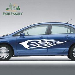 autoadesivi grafici sportivi auto Sconti EARLFAMILY 190cm x 34cm 2x Car Sport Hot Flamers Fire Graphics sticker Adesivo per porte Motore Vinile Grafica Decalcomanie Adesivi per auto