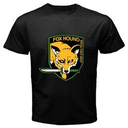 fox gear Promo Codes - FOX HOUND FOXHOUND Special Force Metal Gear Solid Men's Black T-Shirt Size S-3XL summer o neck tee, free shipping cheap tee,2019 hot tees