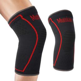 patella knieschützer Rabatt MUMIAN Elastic Sports Leg Knie Unterstützung Klammer Wrap Protector Bein Kompression Sicherheit Pad Patella Schutz Knie Pad Verband Hot # 366993