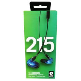 SE215 Edición especial Auriculares intrauditivos Auriculares con aislamiento de sonido Auriculares Auriculares manos libres Sonido claro más graves extendidos desde fabricantes