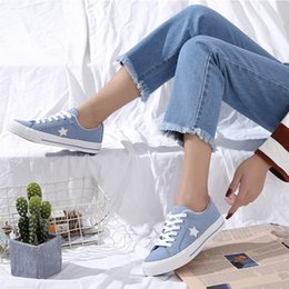 Scarpe di tela di velluto online-Scarpe Dibu NOVERSE coreano tela di canapa femminili simulato Velvet 2019 nuovi pattini casuali Stella