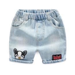 bae455dcf94ff 2019 Summer Infant Déchiré Jeans Shorts Pour Garçon Cool Style Denim Culotte  De Garçon Jeans Shorts Pour Imprimé garçon jeans Enfants Denim 3-8Y jeans  rasés ...