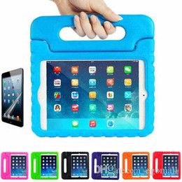 A prueba de golpes mini fundas para ipad online-Multifunción niños suave Segura EVA ligera espuma Peso prueba del choque de la manija de la caja protectora con soporte para iPad 2/3 / Ipad Aire iPad Mini