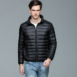 4fba3e284c2 90% White Duck Mens Down Jacket Ultra Light Winter Warm Puffer Lightweight  Down Coat Men Stand Collar Ultralight Coats Male Thin
