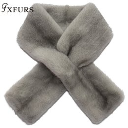 2019 Winter New Nerz Schals heiler Haut aus 100% Echtpelzkragen Ringe warmen Pelz Mufflers Wraps Tücher Massiv weiche Mink T191116