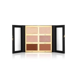 Tonos de paleta online-Pro Glow Highlight Contour Palette Eyeshadow 6 Shades Bronceadores naturales Resaltadores envío gratis