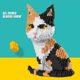 2019 quebra-cabeça de diamante Presentes em miniatura diamante Blocos pequenas partículas Montagem Brinquedos enigma bonito Cat Pet Decoração de Crianças enigma brinquedos desconto quebra-cabeça de diamante