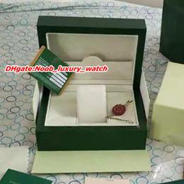 2019 деревянные ящики для подарков Топ роскошные часы оригинальный футляр зеленые бумаги подарок деревянная коробка 116610LN 116610lv коробки мужские часы Наручные часы коробка AAA роскошные мужские часы скидка деревянные ящики для подарков