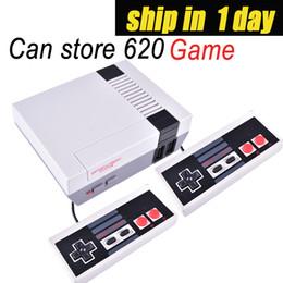 jeux gratuits au détail Promotion 2019 Vente chaude Mini TV Console de jeu peut stocker 620 jeux vidéo de poche pour consoles de jeux NES avec boîtes de détail livraison gratuite