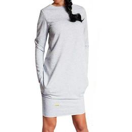 Trem vestido bodycon on-line-2019 Outono Mulheres Jumper Hoodies Vestido Feminino Longarm Tunika Bodycon Moletom Terno de Treinamento Pullover Vestidos De Fiesta