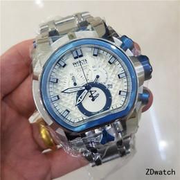 Canada Montres de luxe pour hommes de réserve Réserver Bolt Zeus Magnum résistant à l'eau plaqué Dual Time montre à quartz suisse à grand cadran Offre