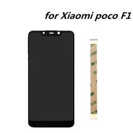 zellsensoren Rabatt 6,18 zoll Für Xiaomi Pocophone F1 Touchscreen Digitizer Glass Sensor + LCD Display Panel für Pocophone F1 handy