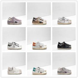 Zapatos ggdb online-2019 Golden Goose Deluxe Brand GGDB diseñador de moda zapatillas de deporte de cuero genuino para mujer para hombre zapatos casuales Gooses entrenador SUPERSTAR G-009