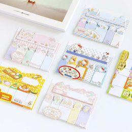 2019 notas da folha Melodia Dos Desenhos Animados Cinnamoroll Auto-Adesivo N Vezes Memo Pad Sticky Notes Marcador Notepad Material Escolar Escritório