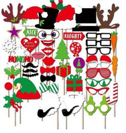 Sıcak satış Noel Partisi Photo Booth Dikmeler Yaratıcı Parti Dekorasyon toptan için Mutlu Noel Poz Burcu Kiti nereden