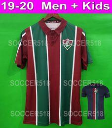 Futebol brasileiro on-line-S - 3XL Fluminense 2019 2020 Fluminense 19 20 camisa de futebol camisa de futebol brasileiro Clube de Futebol Jersey 2019 2020 camisa de futebol jerseys Crianças kit uniformes
