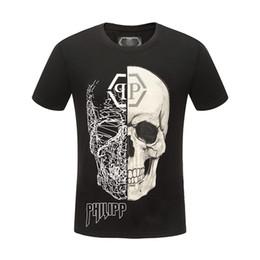 P marque crâne t shirt mens été vêtements de luxe de designer vêtements à manches courtes hip hop tops tee casual t-shirt punk 100% coton asie taille m-3xl ? partir de fabricateur
