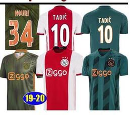 Анти морщин комплект онлайн-Тайский футбол 2019 2020 Ajax FC Трикотажные изделия DE JONG TADIC PROMES Van DE Beek CRUYFF футболка 19 20 футболка комплект ajaxa msterdam camiseta