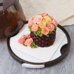 "Cajas de regalo para galletas online-Saim Cajas de embalaje portátiles de mano Cookie Macarons Cake Box Chocolate Muffin Biscuits Box Gift 6 ""-8"" Packaging JJ50655"