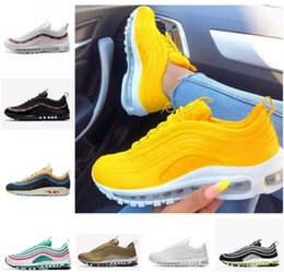 Canada 2018 nike Air max 97 Ultra 97 OG Jaune Blanc Casual Chaussures 97s Sean Wotherspoon Invaincu Femmes Concepteurs Hommes Mode Femmes Baskets Offre