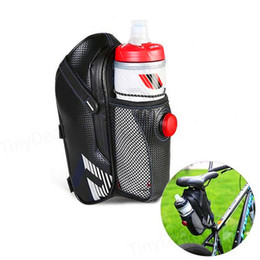 клетка для воды для велосипеда Скидка ROSWHEEL Водонепроницаемая сумка для сиденья Седельная сумка Заднее сиденье с карманом для бутылки с водой Светодиодные аксессуары MTB