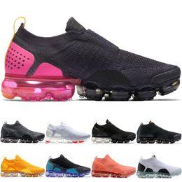 lowest price 308e2 28472 2019 moc 2.0 Flagship Shoes uomo donna 2018 bianco Nero grigio blu rosa maglia  scarpe da ginnastica fashion designer off sneakers 36-45 Vapormax vapor