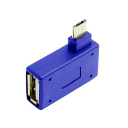 angle otg cable Coupons - Cwxuan 90 Degrees Right Angled Micro USB to USB OTG Adapter and Power Port