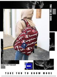 2019-Champion Männer und Frauen neue Full-Logo US-Version der Rucksack Paar Rucksäcke beiläufige Art und Weise Reisetasche von Fabrikanten