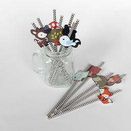 2019 vestiti da filo Vendita calda 12 pz / lotto Creativo Bambini Tema Party Bere Paglie di carta del fumetto di Paglia Per La Festa di Compleanno forniture Tubo Potabile Carino paglia