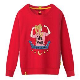 Neue Marke Frauen Pullover Rundhals Kragen mit schönen Mädchen Print Sweatshirts für Frauen kausal lose Designer Hoodies Langarm C von Fabrikanten