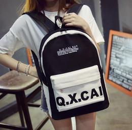 Zaino femminile versione coreana del vento borsa del college Giappone e Corea del Sud moda tela zaino studente casual selvaggio piccola borsa fresca supplier fashion korea backpack bag da sacchetto di zaino della corea di modo fornitori