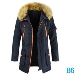 Jacket Quality for Mens Fur High Coats Winter Parkas Mens Couple HoodedB6 Jacket Long Zipper Windbreaker Thick Insize New Jackets Fashion 7vgY6mIbyf
