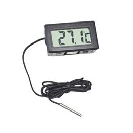 Digital LCD Termômetro Higrômetro sensor de Temperatura Estação Meteorológica Estação de Diagnóstico Regulador Térmico Termometro Digital-50 ~ 110 de Fornecedores de sensor de termômetro