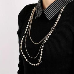 Haute Qualité Longue Perle Pull Chaîne Cristal Émail Trèfle À Quatre Feuilles Collier Pour Femmes Fille Bijoux De Mode Accessoires ? partir de fabricateur
