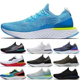 Voar praia on-line-Nike Epic React Flyknit 2 New chegada reagir instantânea ir voar South Beach ser verdadeiro homens mulheres running shoes malha causal esportes respirável athletic tênis de grife
