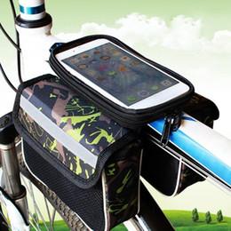 2019 красный m мобильный Сумка для мобильного телефона для велосипеда с сенсорным экраном MTB Дорожный велосипед Top Frame Pannier Велоспорт для хранения Красный / Зеленый / Синий 3 цвета Велосипедные аксессуары # 351838 дешево красный m мобильный