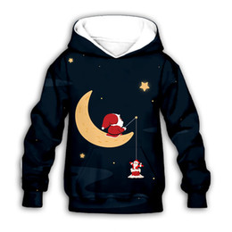 Hoodies 3d para meninos on-line-Teens Christmas Hoodies Boys 3D Print Cartoon Hooded Sweatshirt Kids Clothes Boys Casual Outfits Girls Winter Long Sleeve Wear 06