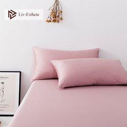 Almohadas saludables online-Liv-Esthete Pink 100% Nature Stranded Mulberry Satin Silk Pillowcase Funda de almohada saludable al por mayor para mujeres, hombres y niños