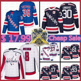 Hockey jersey york online-Uomini New York Rangers hokey Jersey 30 Henrik Lundqvist Mats Zuccarello Rick Nash Ryan McDonagh Jesper Fast Washington Capitals Alex Ovechkin
