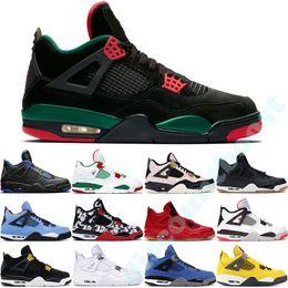2019 zapatillas de baloncesto día de san valentín Nike Air Jordan 4 Bred 2019 What The Basketball Shoes 30th Anniversary Laser Silt Red Splatter Singles Day Lightning Pure Money Oreo Hombres 4 Zapatillas 40-47 zapatillas de baloncesto día de san valentín baratos