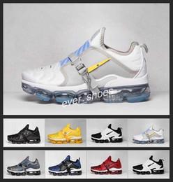 2019 almofada de ar tn mais 2019 Nova Mens air Plus Paris Almofada Running Shoes Vermelho Azul Amarelo TN 2.0 cinta Tênis Ao Ar Livre Dos Homens Tênis de Designer Chaussures almofada de ar tn mais barato