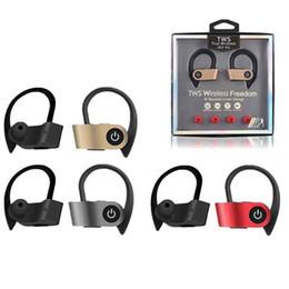 2019 marcas de vendas de plástico Deporte Auricular TWS-W2 auriculares gemelos Mini Bluetooth en la oreja los auriculares con el deporte 2 Verdadero inalámbrica para auriculares estéreo