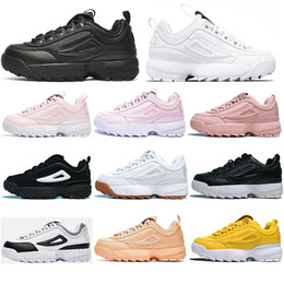 with socksFILADesigner Triple white black grey Women men special section sports sneaker increased Jogging running shoes SIZE 35 45