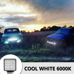 luci rosse ems Sconti Spedizione gratuita 16LED 48W SUV 6000K Bianco Colore Light Bar veicolo lavoro fari fari