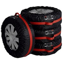 4pcs housse de pneu de secours polyester hiver et été sacs de stockage de pneus de voiture accessoires de pneus auto protecteur de roue de véhicule chaud ? partir de fabricateur