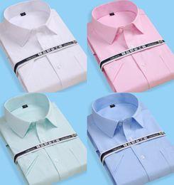 2019 xxl kleid Fertigen Sie Hochzeits-Kleid-Bräutigam-Abnutzungs-Hemden der Männer kurz an Plus Größe formale Bräutigam-Abnutzungs-Geschäfts-männliche Arbeits-Büro-Hemden günstig xxl kleid