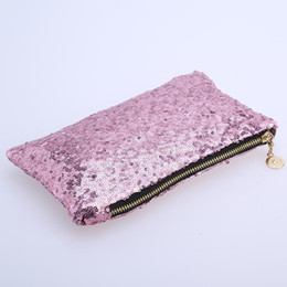 1ab19e8f5b24 silver sequin clutch bags Promo Codes - Fashion Women Clutch Dazzling  Sequins Glitter Sparkling Handbag Evening
