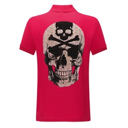 Sequin das mulheres camisetas on-line-NOVA Marca PP polo T camisa de algodão cabeça fantasma lazer moda shorts impressão das mulheres lantejoulas Hip hop impressão de manga curta tees para homens